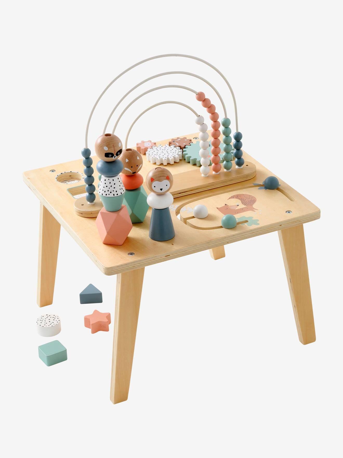 Table D Activites Arc En Ciel Multicolore Les Petits Seront Fascines De Faire Tant De Decouvertes Sur Cette Superbe Table D Table D Activite Jouet Jouet Bebe