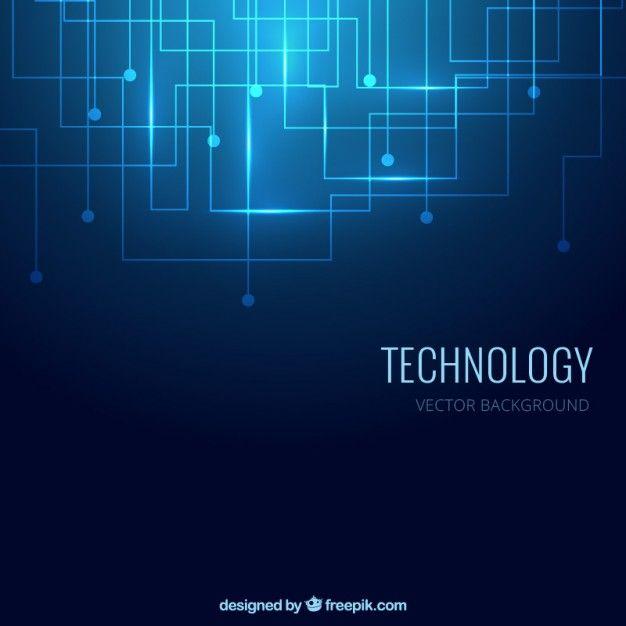 fondo de tecnología en color azul vector gratis design
