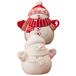 Gare Bisque Snowman Figure Ceramic Painting Ceramic Bisque Bisque Pottery