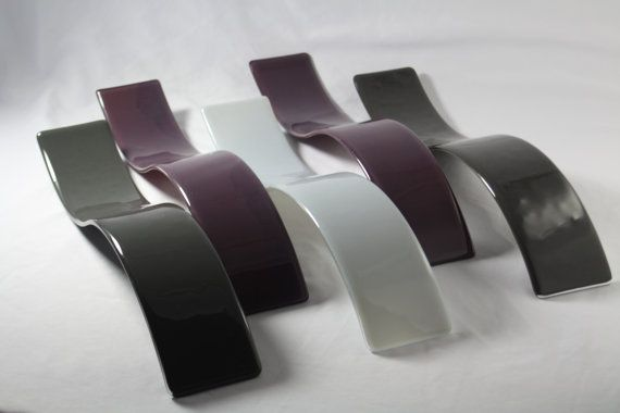 Fused Glass Wall Art /  Wave Sculpture Purple and by JMFusions, $299.00