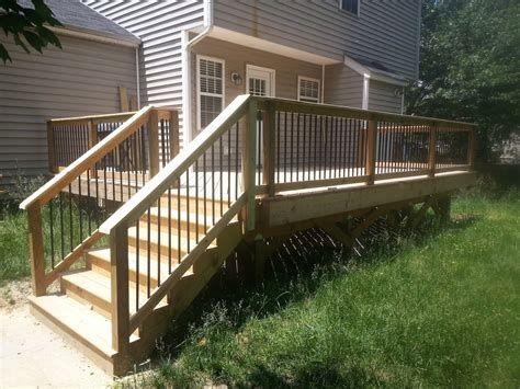 Best 5 Patio Stairs Railing in 2020 | Simple deck designs ...