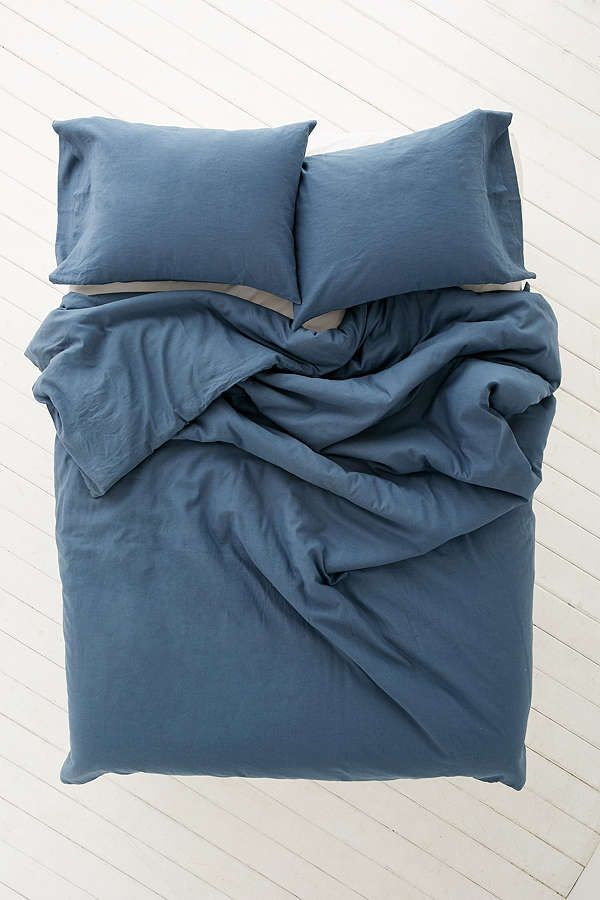 Assembly Home Linen Blend Duvet Cover | Blue | Urban Outfitters