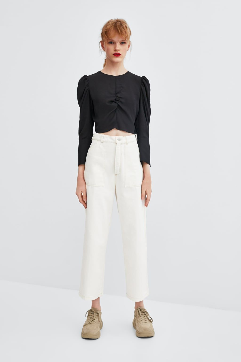 ccbd0e4af9 Image 1 of FLOWY PLEATED TOP from Zara