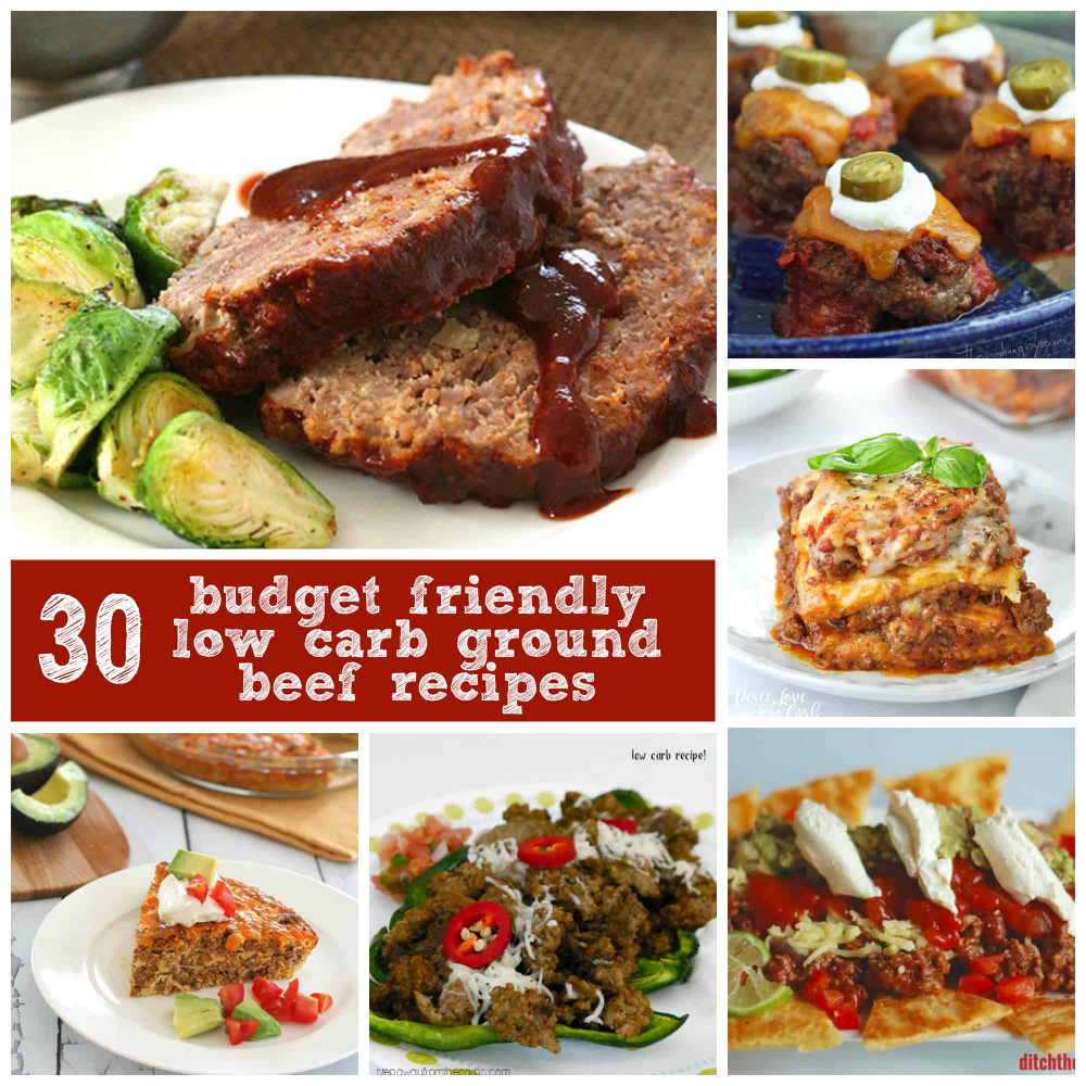 30 Low Carb Ground Beef Recipes