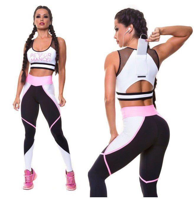aee919ef06c Womens Sport Gym Yoga Vest Bra Sports Legging Pants Workout Outfit Wear Set  GW
