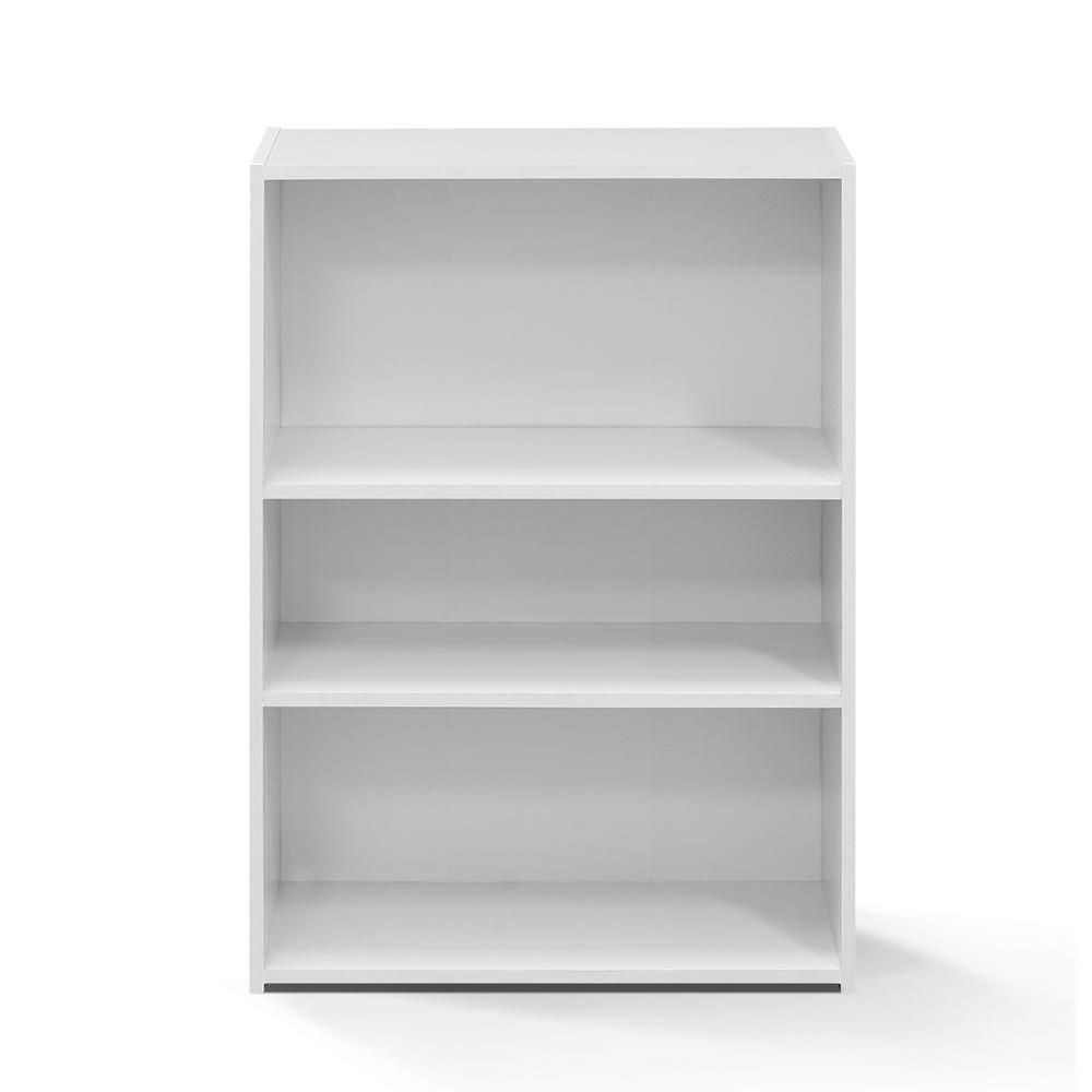 Furinno Wright Soft White 3 Shelf Bookcase 3 Shelf Bookcase