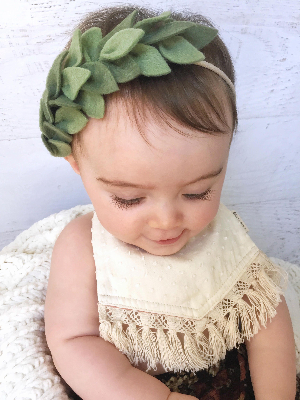 boho headband Baby felt flower headband