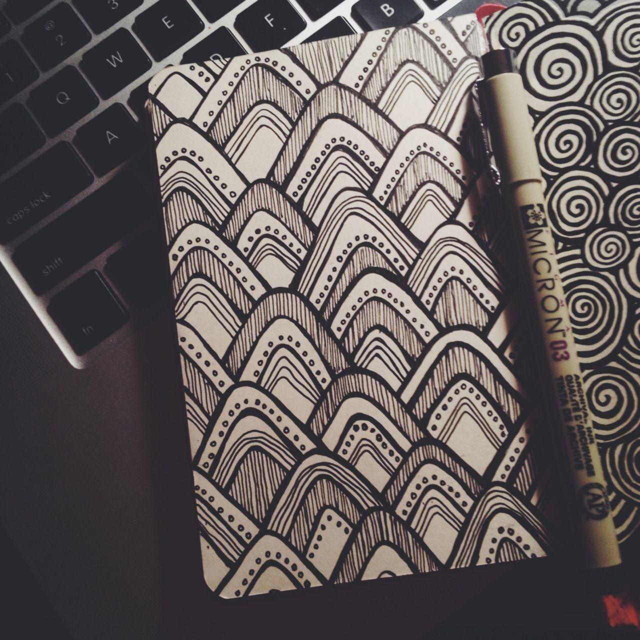 simple designs in moleskin http tumblr com lauren salgado