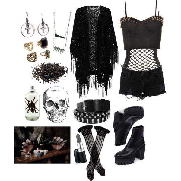 aff9ea36b082 Spookshow  goth  gothic  fashion  summer  polyvore  tradgoth  80s  80sgoth   deathrock  occult  witchy  witch  nugoth