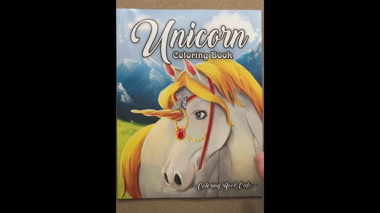 Unicorn Coloring Book Coloring Book Cafe Flip Through