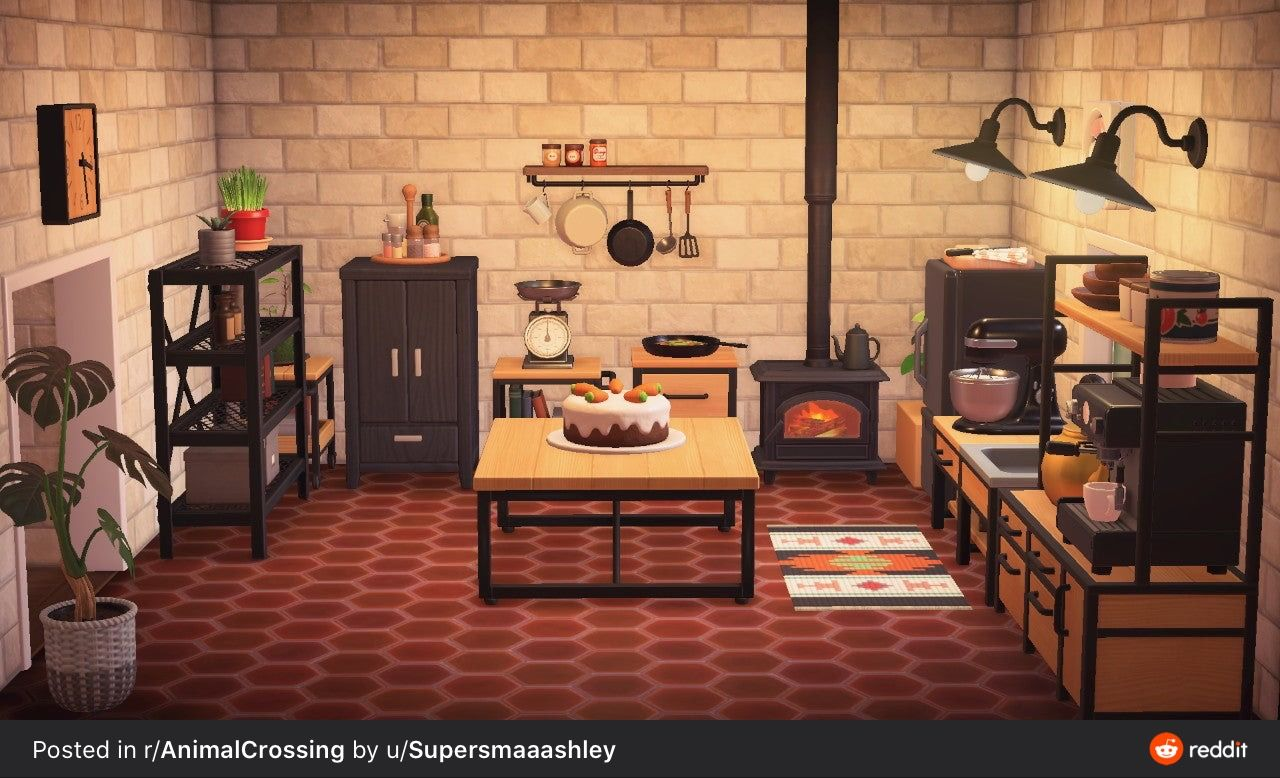 Kitchen in 2020 | Animal crossing, Animal crossing pc, New ... on Animal Crossing Kitchen Island  id=60926