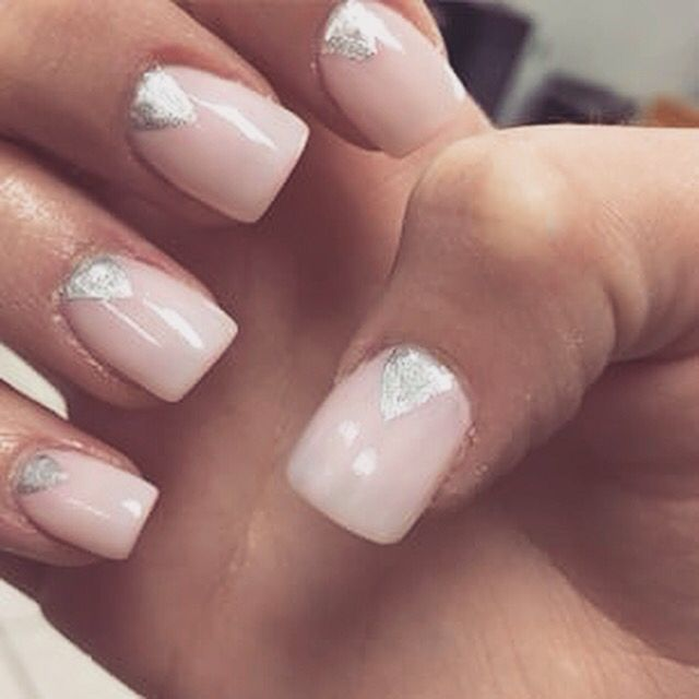 Triangle Crescent Cute Nails Nails Pretty Nails