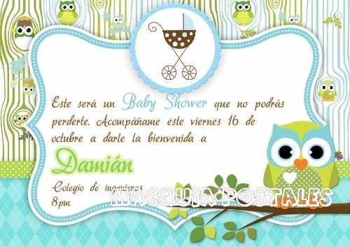 Invitaciónes baby shower buhos niño Imagui ideas para crear Pinterest Baby shower