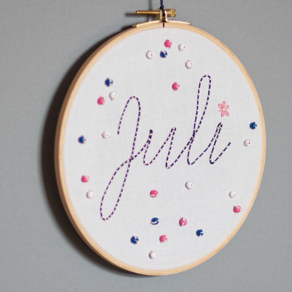 Häufig DIY-Geschenk zur Geburt: Namen und Wörter kreativ sticken | DIY YP97