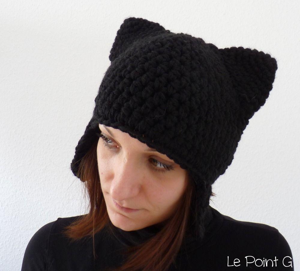 Bonnet péruvien Chat noir