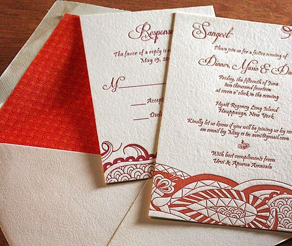 Arti #letterpress #wedding #invitation with matching envelope liner - invitation letter for home party