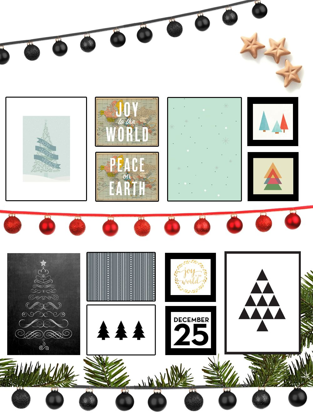 Free Christmas Printables To Spiffy Up Your Holiday Decor Littlegoldpixel Com 35 Stylish Free Christmas Printables Christmas Printables Holiday Printables