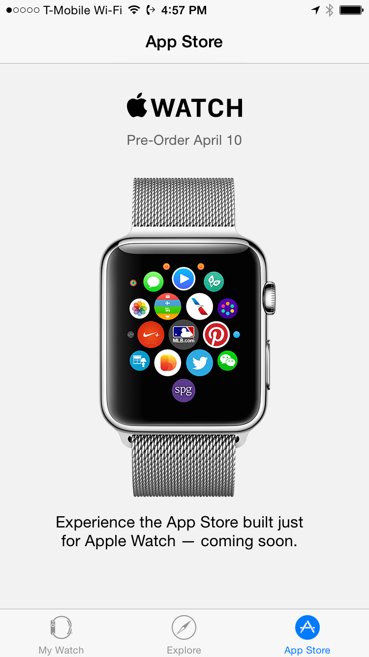 A Look At The Apple Watch Companion App Apple watch