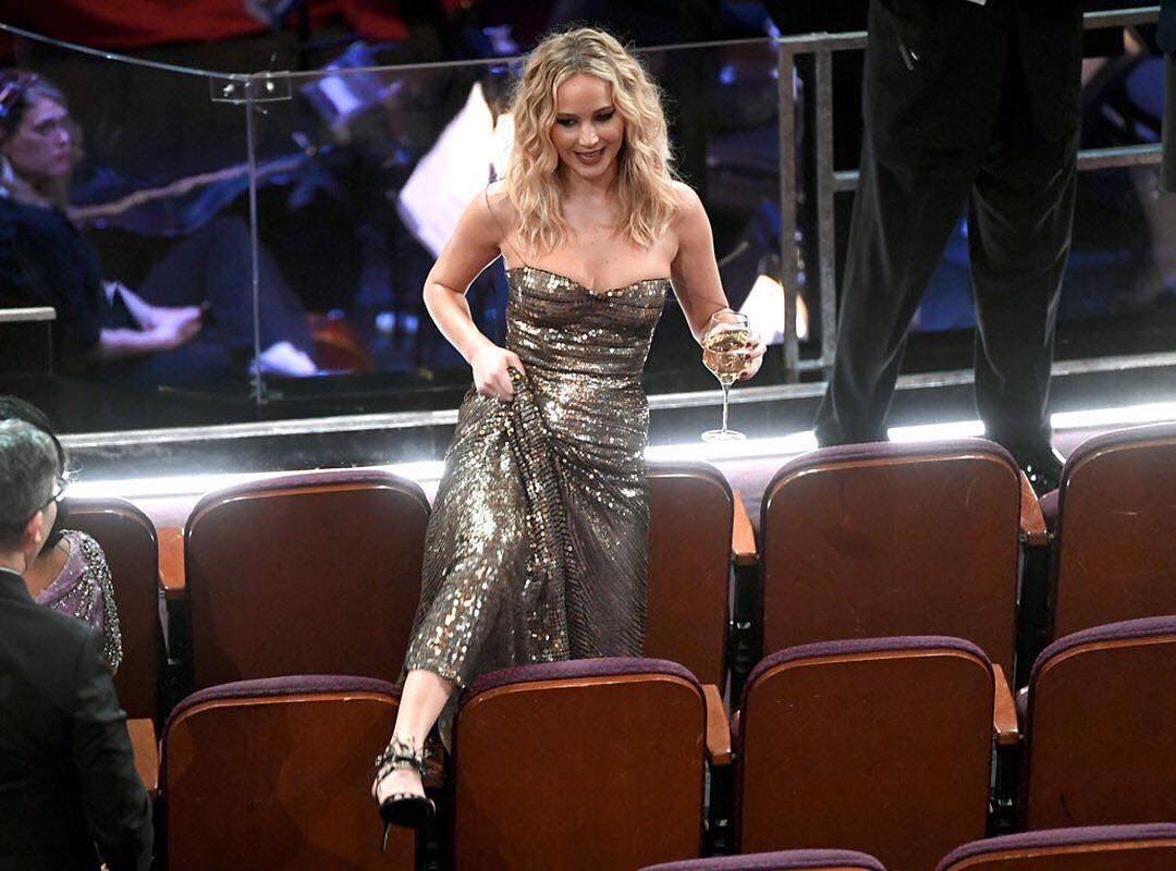 Jennifer Lawrence at the #Oscars #2018 | Estilo de ...