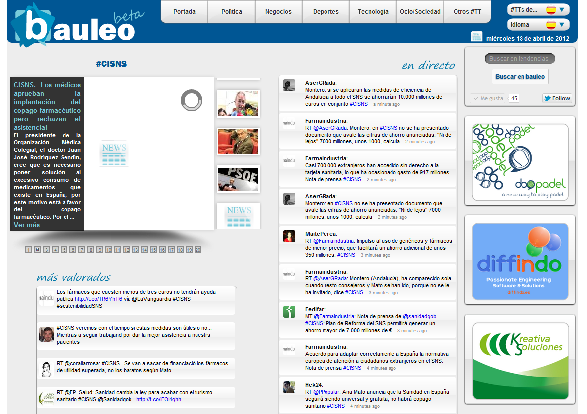 Todo lo que se dice sobre el copago sanitario en http://goo.gl/A4a9k  All about health copayment in Spain at http://goo.gl/A4a9k