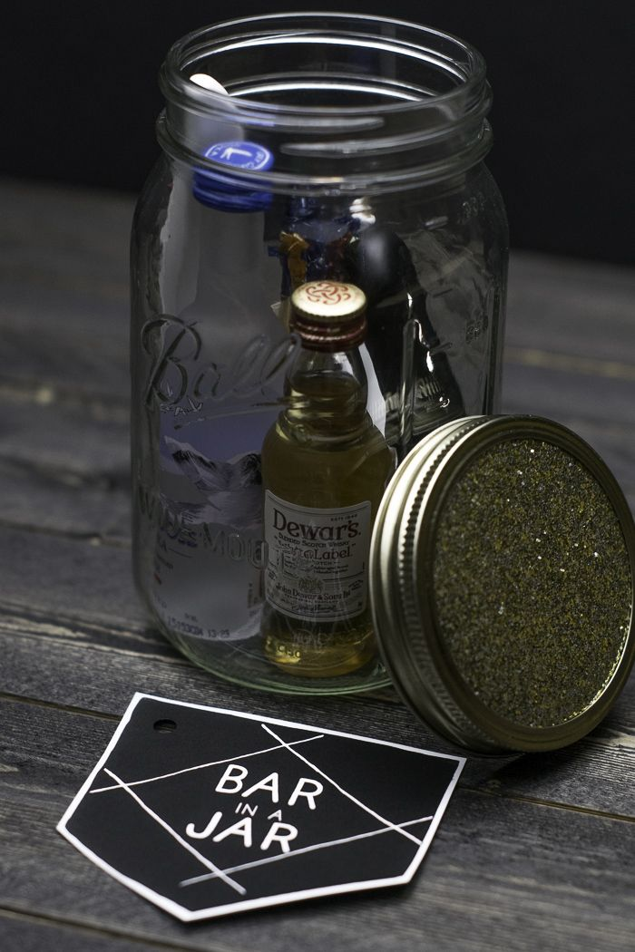 Bar In A Jar Bar Inspiration Jar Gifts Mini Alcohol Bottles