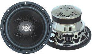 Lanzar VW154 Vibe 15-Inch 2000 Watt 4 Ohm Chrome Subwoofer ... on