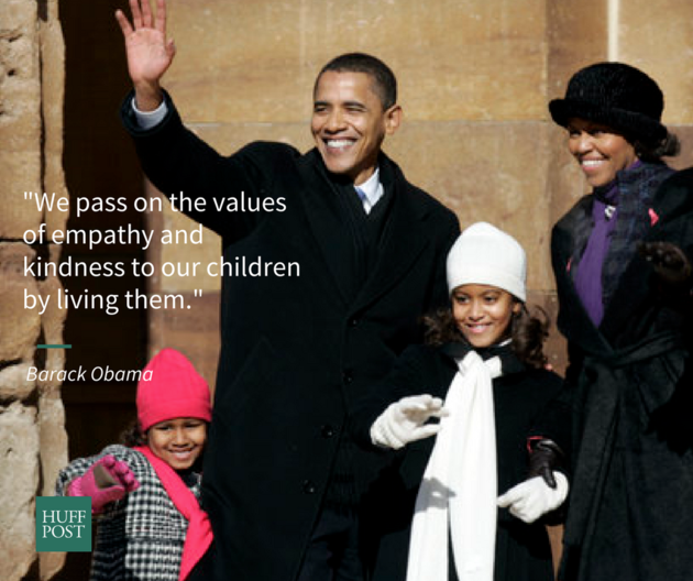 21 Beautiful Parenting Quotes From Barack And Michelle Obama Michele Obama Quotes Obama Quote Barack And Michelle