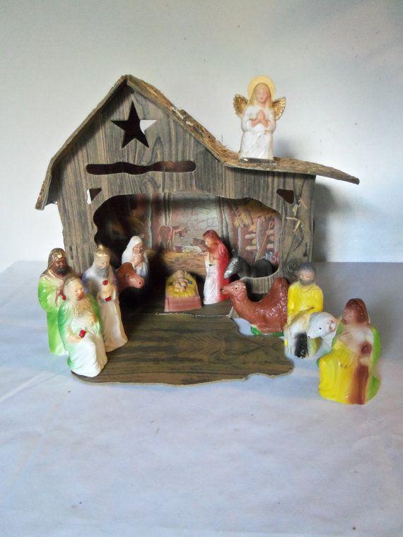 Handmade Miniature Maison de poupées en bois /'Joyeux Noël/' Ornement Décoration.
