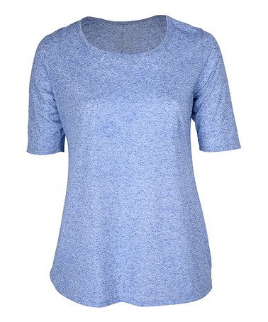 This Blue Scoop Neck Tunic - Plus is perfect! #zulilyfinds