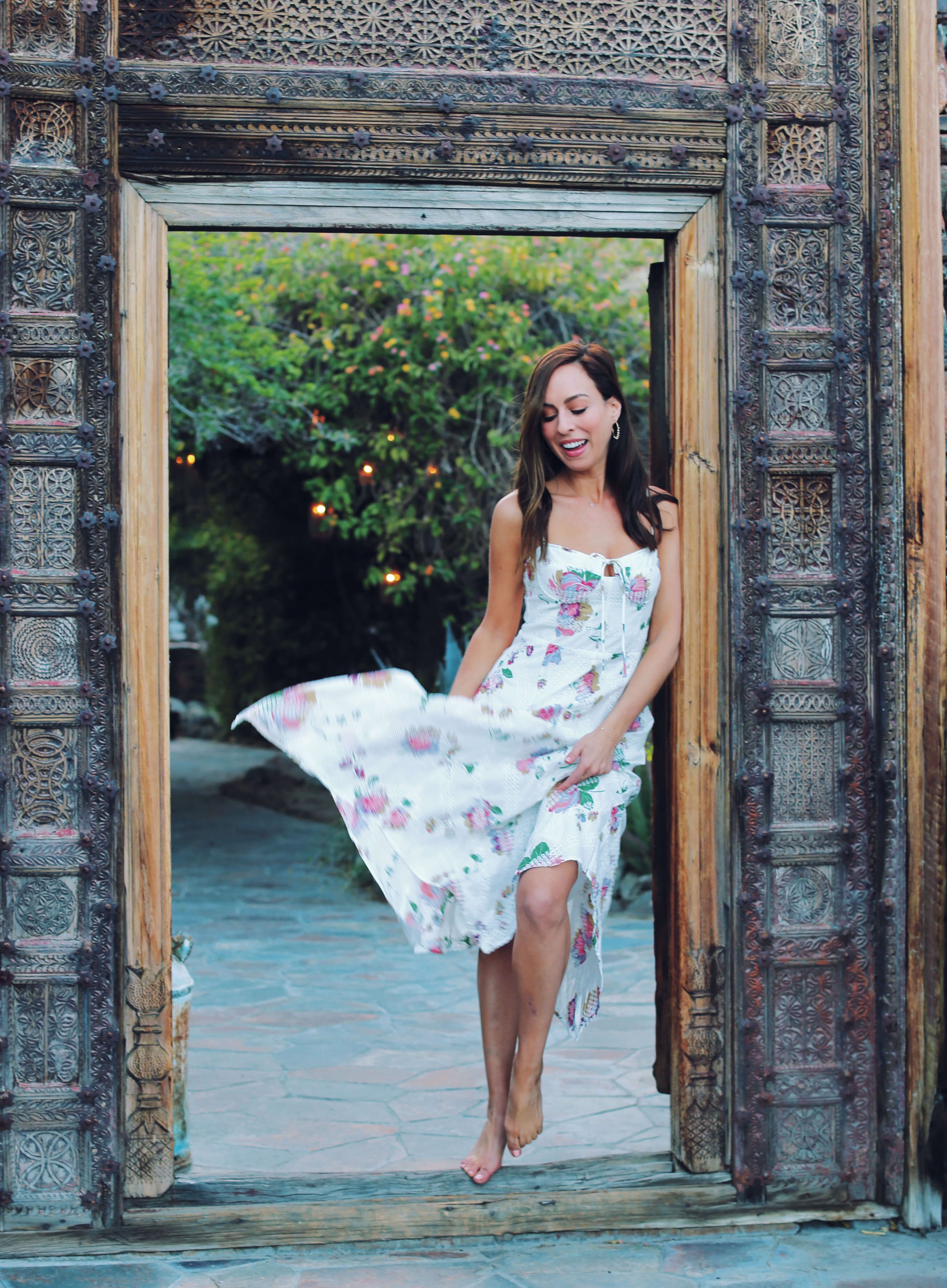 c31c52ae23c88 Sydne Style shows what to wear in palm springs at korakia  dresses  florals