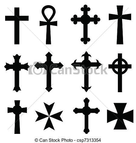 Vector Christian Crosses Stock Illustration Royalty Free Illustrations Stock Clip Art Icon Stock Cli Christian Cross Images Christian Cross Cross Vector