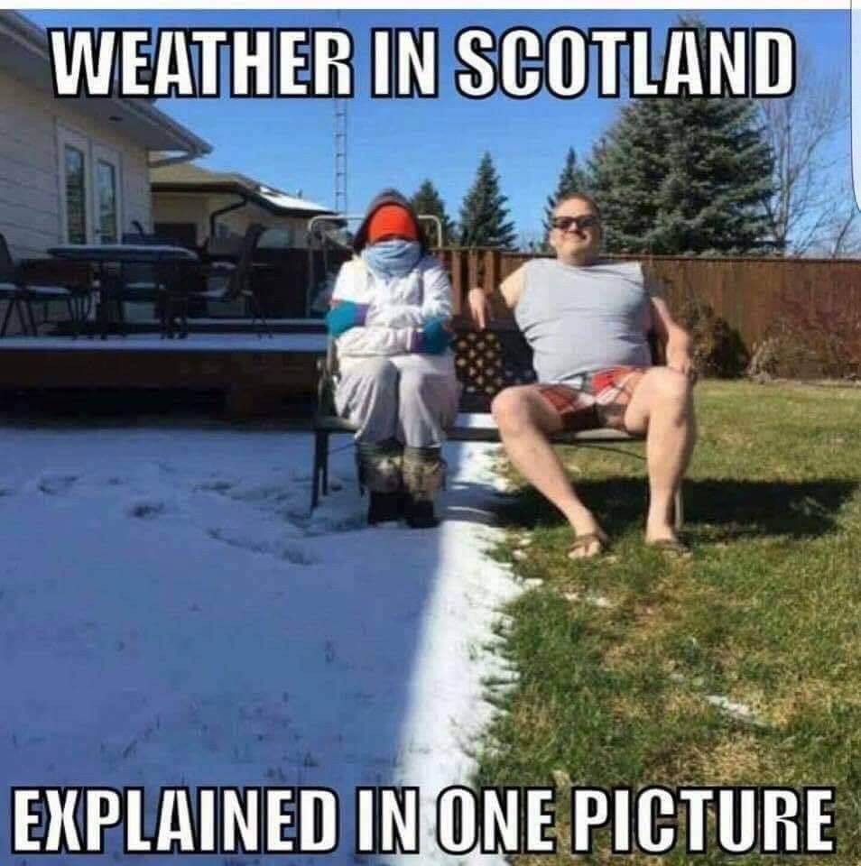 Pin By Donald S Munro On Scottish Humor Weather Memes Pinterest