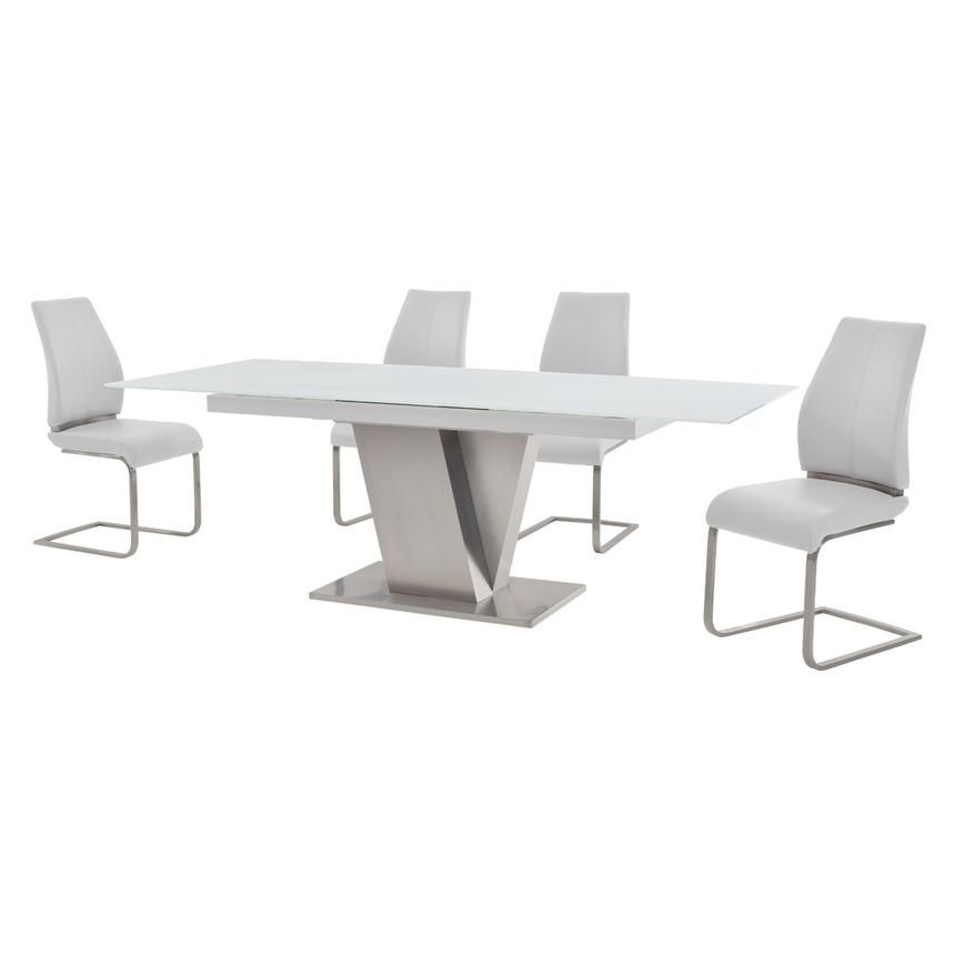 Maday White 5 Piece Formal Dining Set Formal Dining Set Dining