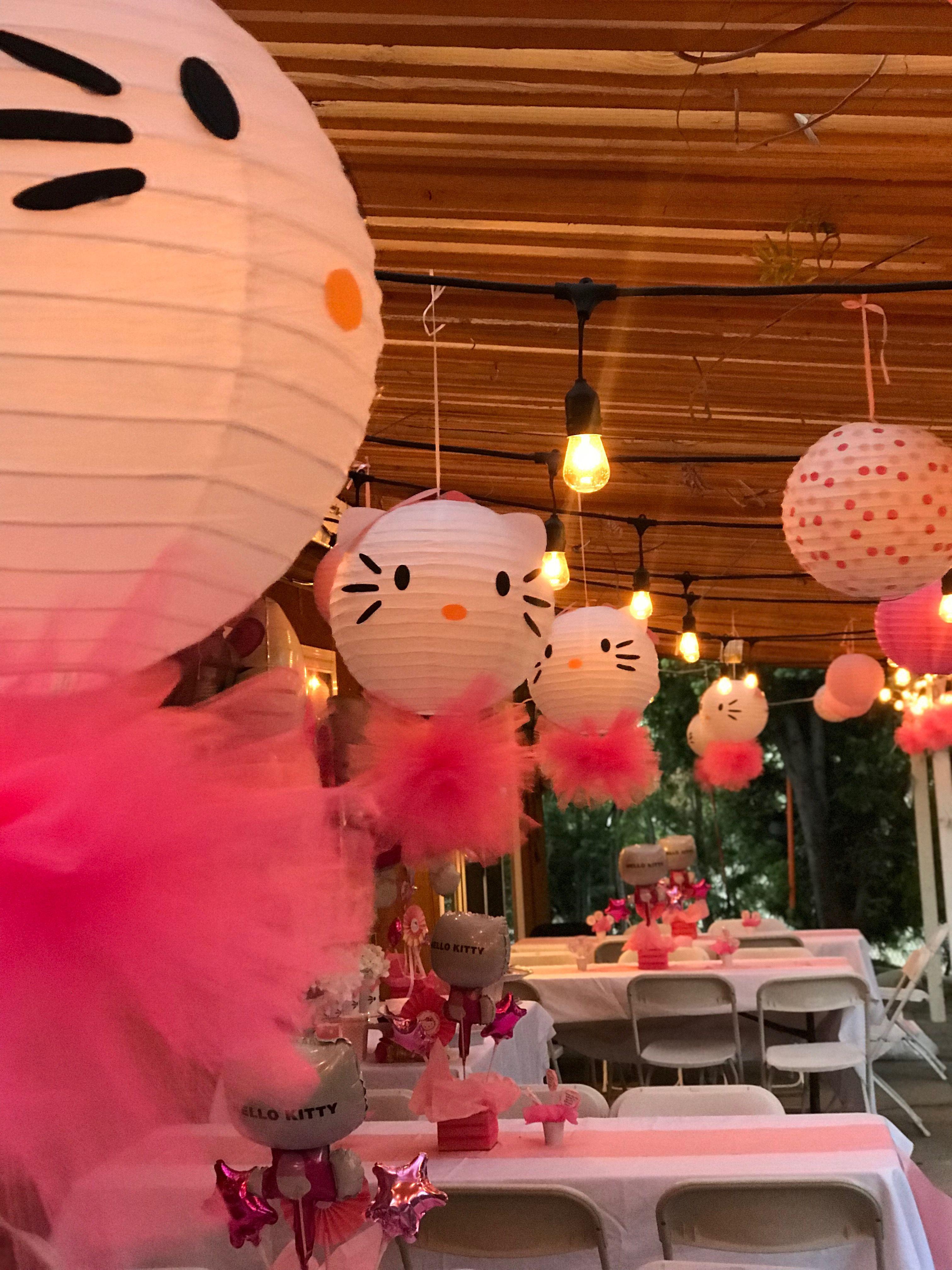 Hello kitty paper lanterns