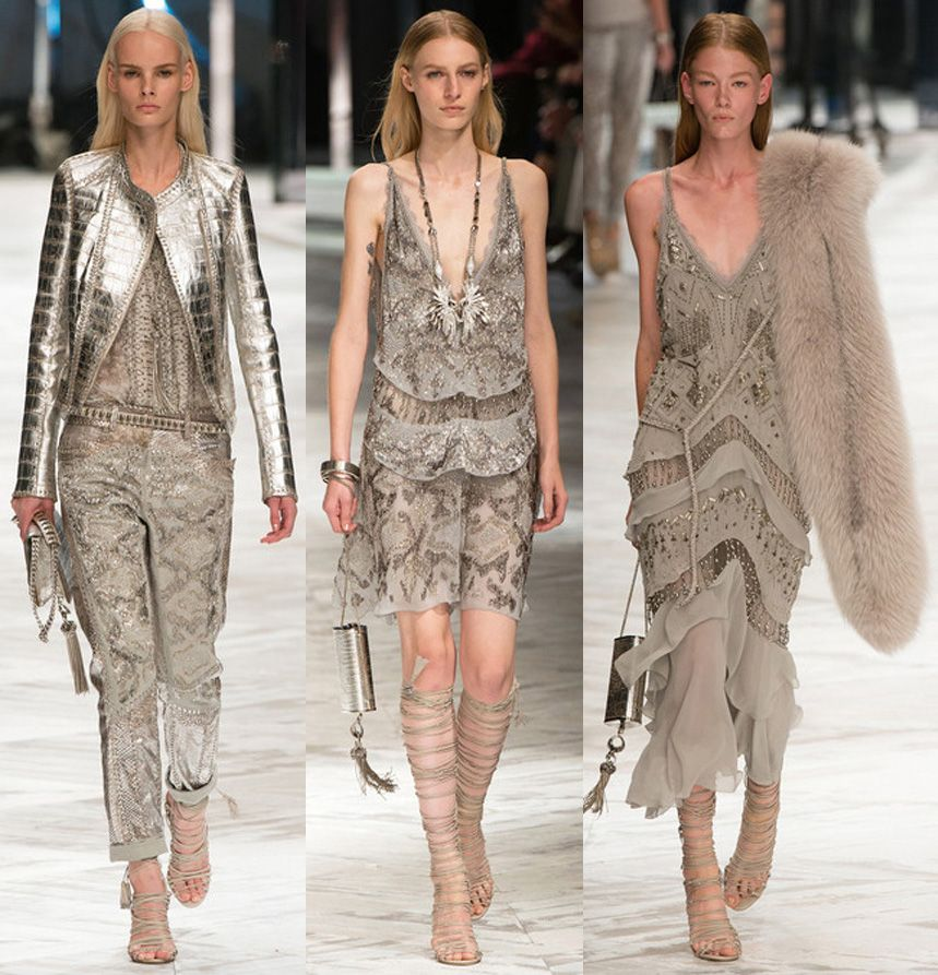 la modella mafia Roberto Cavalli Spring Summer 2014 collection 12