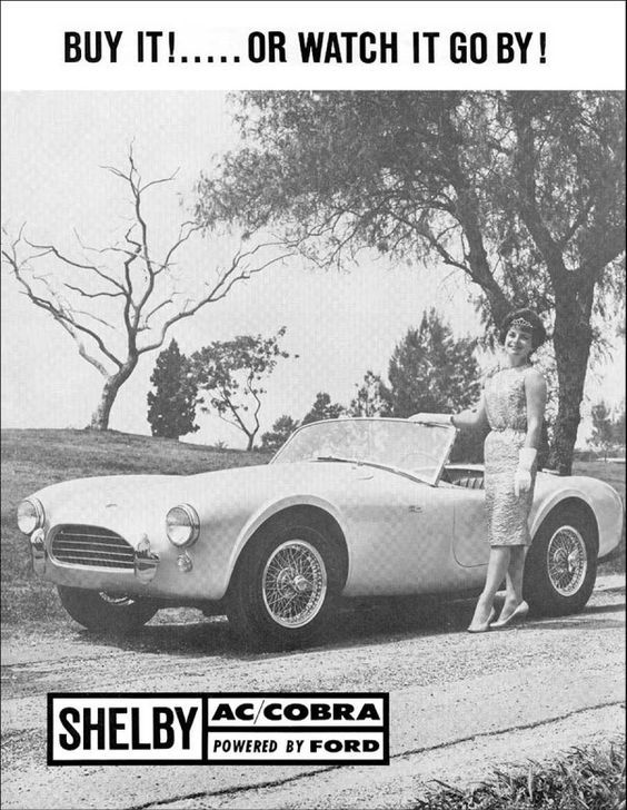 Vintage /& Rare 1964 Shelby American Cobra Ad Better Than Original Print