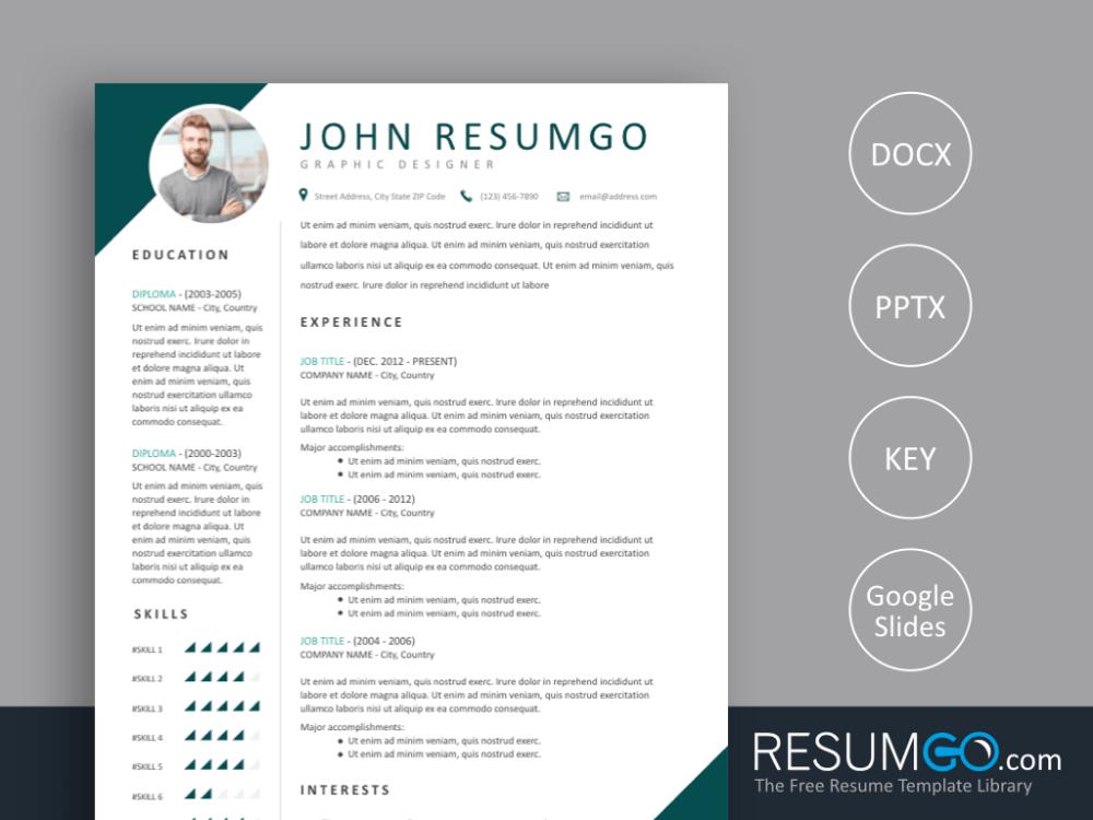 Teris 2 Corner Style Resume Template Resume Template Modern Resume Template Templates