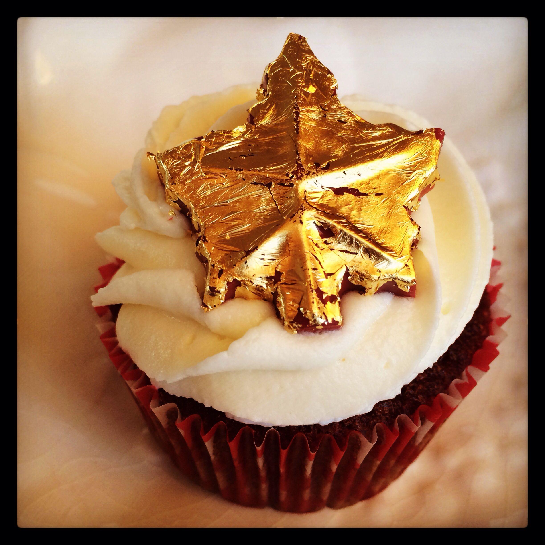 Gold leaf cupcake desserts food cupcakes