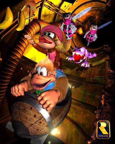 Donkey Kong Country 3 Dixie Kong S Double Trouble Donkey Kong Country Donkey Kong Super Mario Art