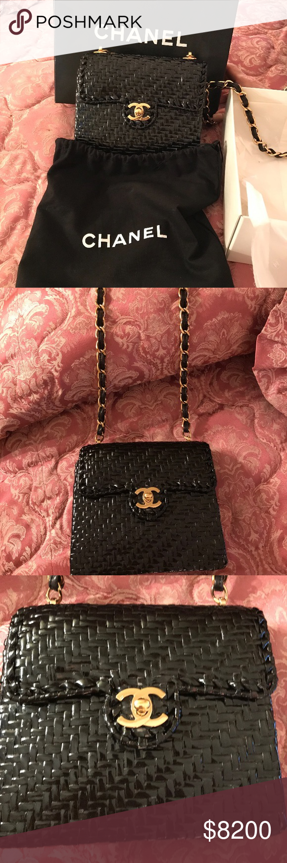 24bc28d4230b Chanel Classic Flap Rare 1980 s Wicker Rattan Bag  HOT ITEM  Authentic  Vintage Chanel Wicker