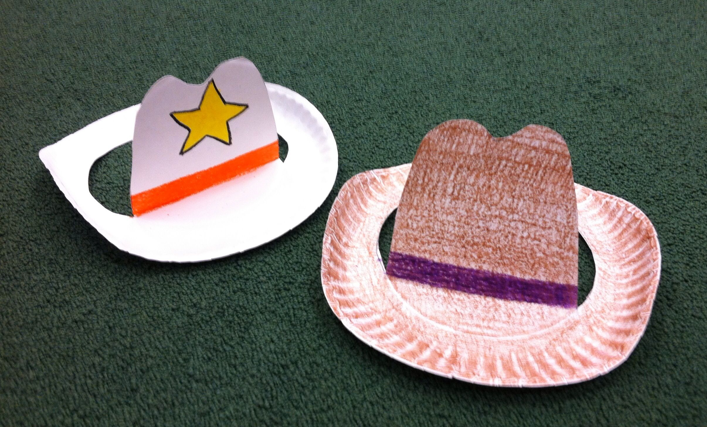 Src Paper Plate Cowboy Hat Craft