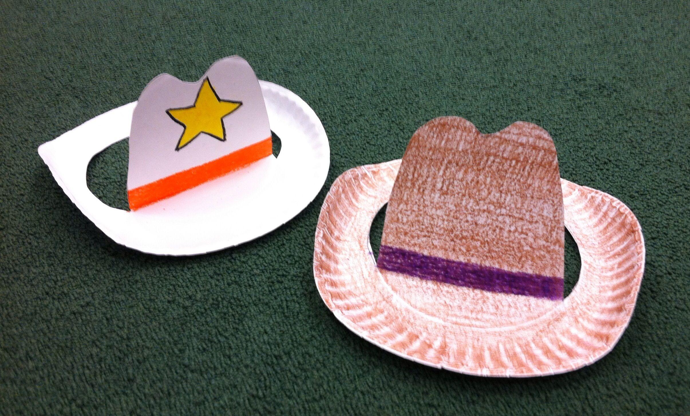 Src Paper Plate Cowboy Hat Craft