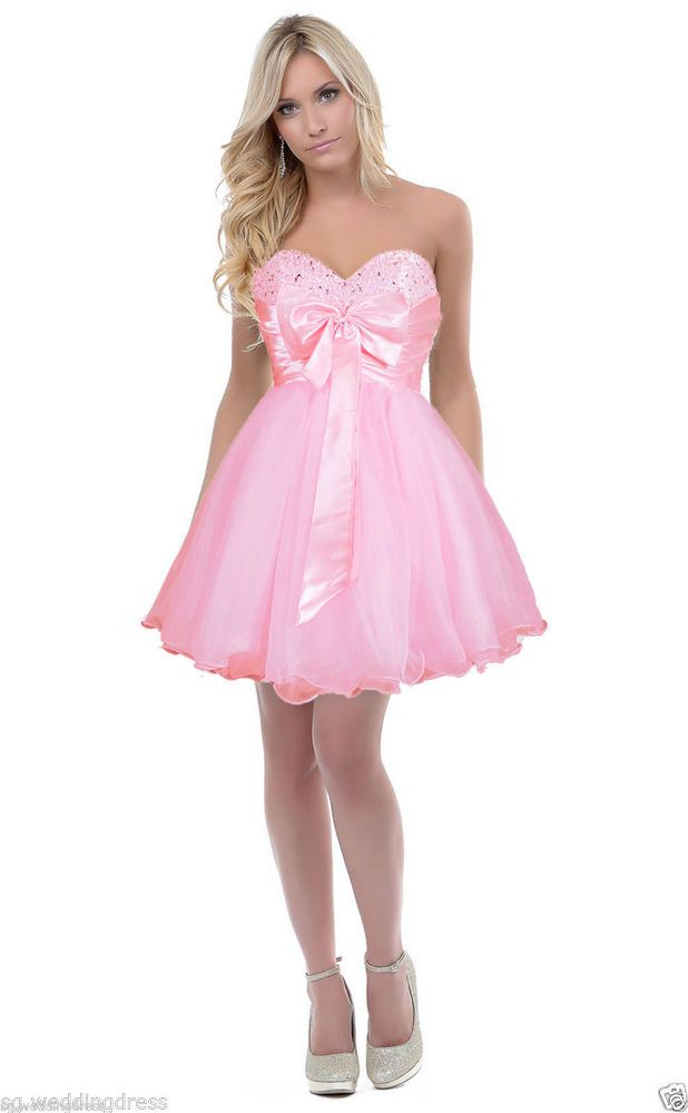 FairOnly Stock Girl\'s Mini Quinceanera Homecoming Prom Dress Size6 8 ...