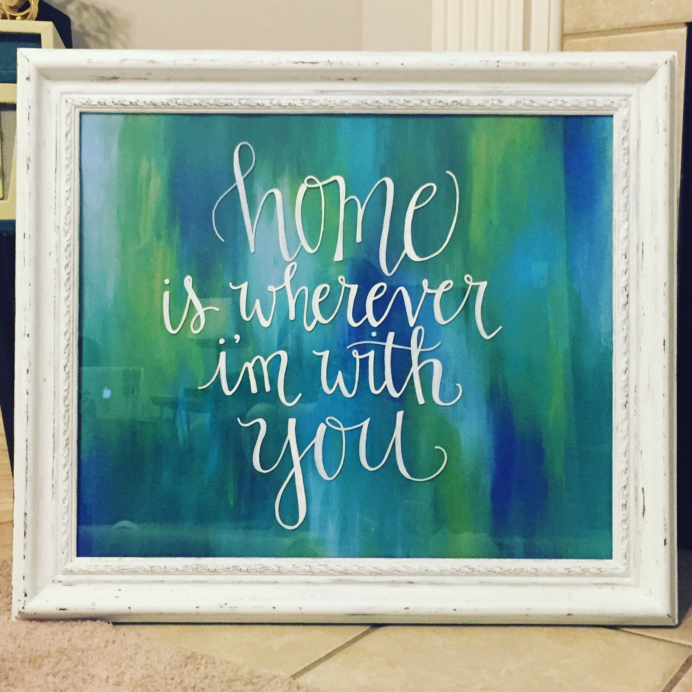 Diy Frame Thrift Store Find Painted With Acrylic Paint And