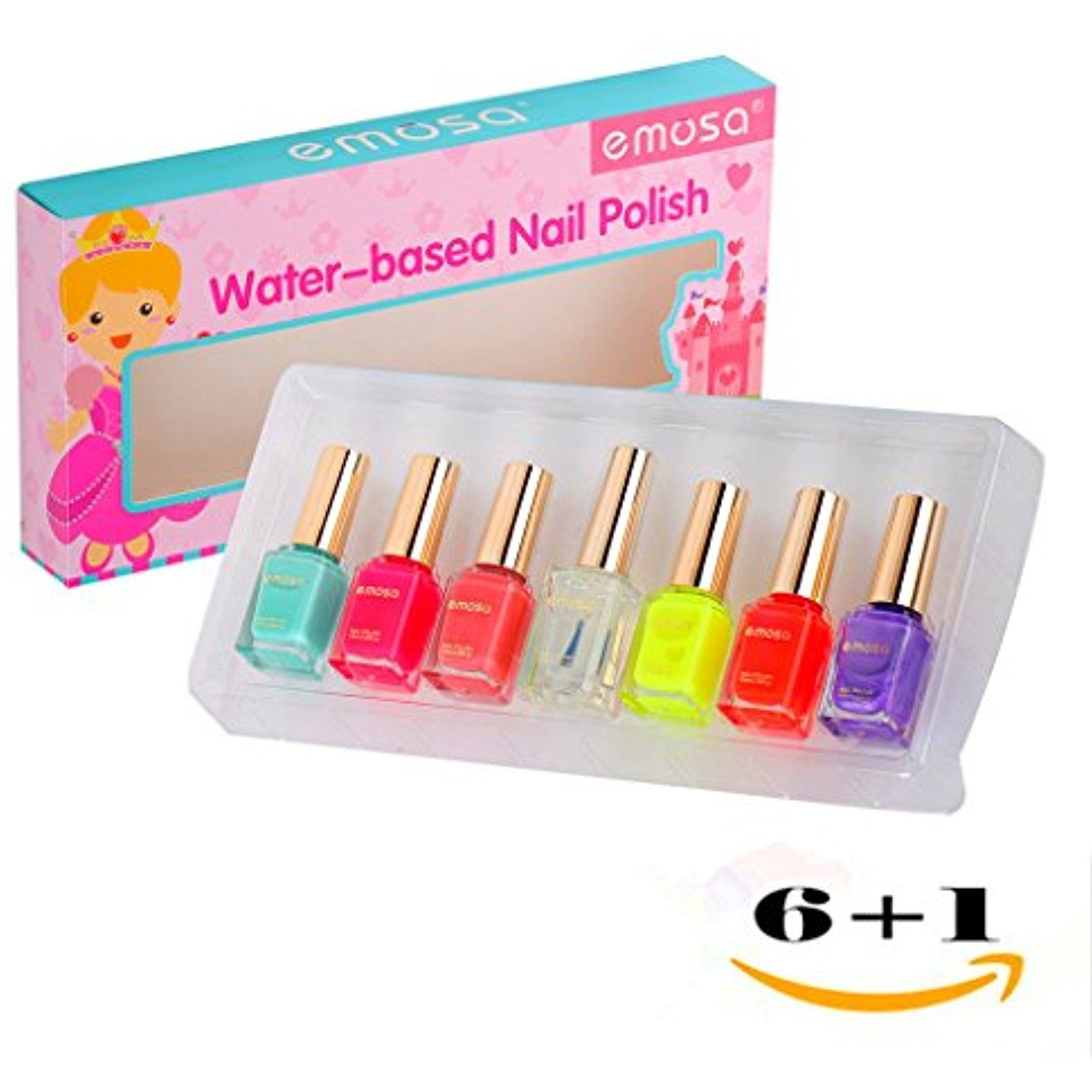 Emosa Nail Polish - Kid and Girls Non Toxic Water Based Fast Drying ...