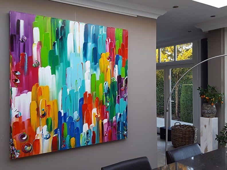 Modern Interieur Schilderij : Nog zo n handig televisieoplosing je schilderij schuift over je