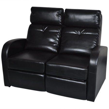 Vidaxl Artificial Leather Home Cinema Recliner Reclining Sofa 2 Seat