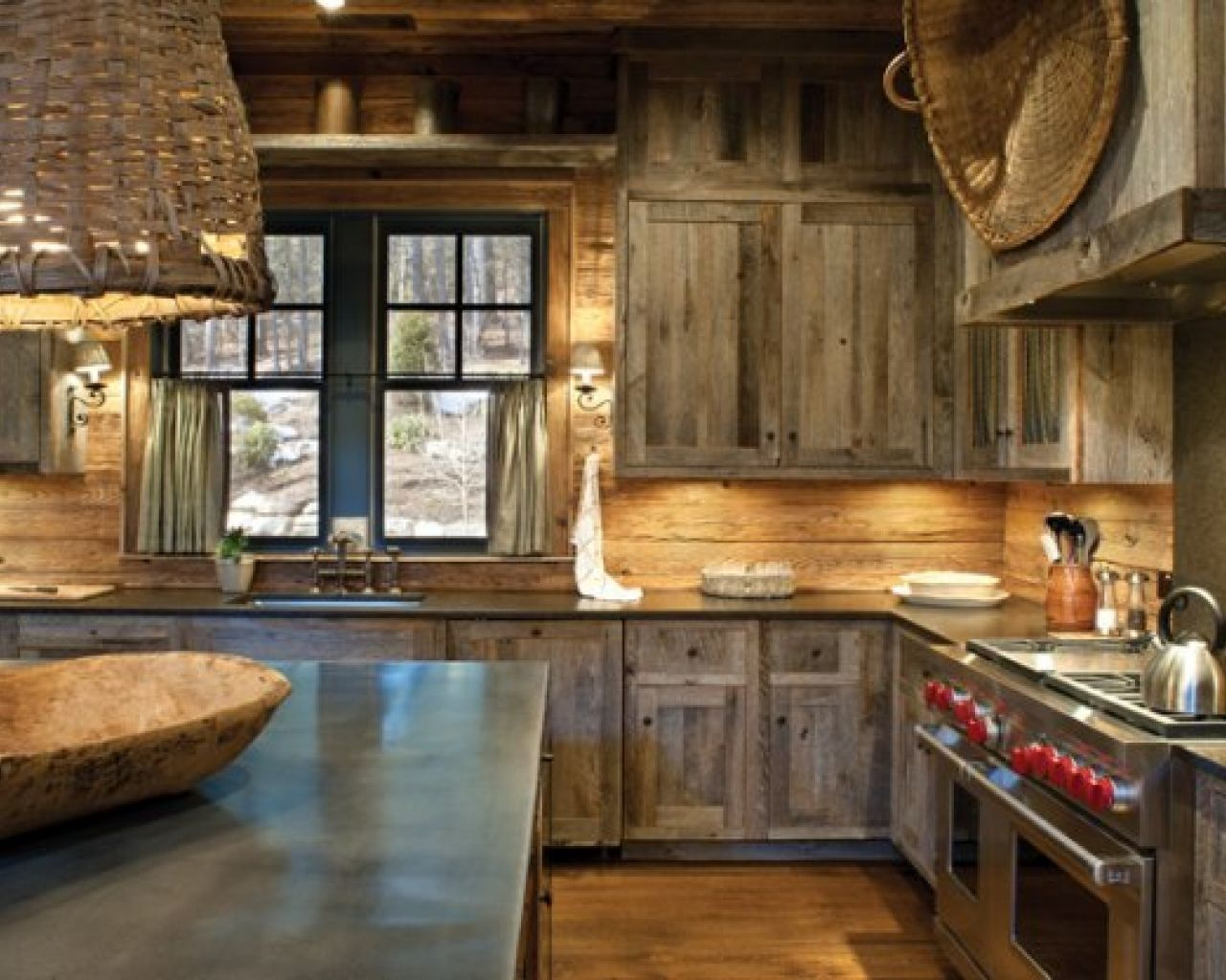 Rustic And Modern Combination Kitchen Rustic Modern Kitchen Rustic Country Kitchen Decor Rustic Country Kitchens