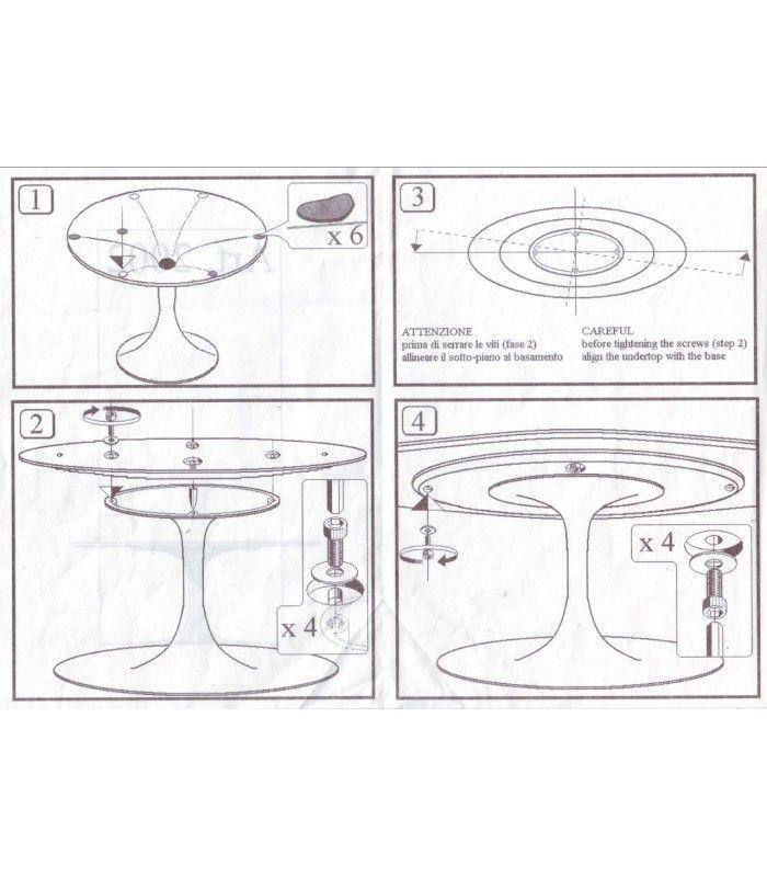 Riedizione tavolo ovale Tulip di Eero Saarinen con piano in marmo di ...
