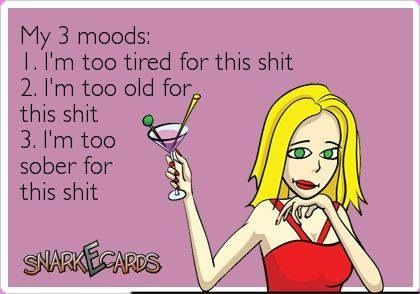 My three moods